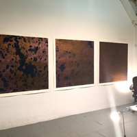 Triptych, studio view